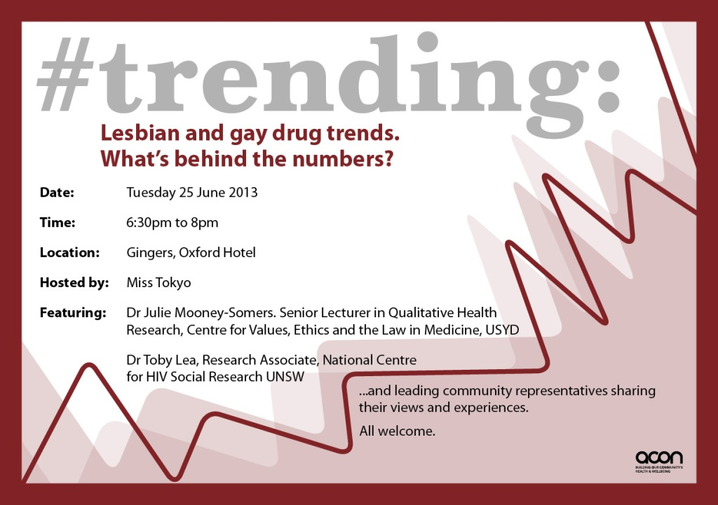 Lesbian and Gay drug trends forum